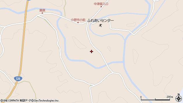 大分県佐伯市宇目大字小野市3980周辺の地図
