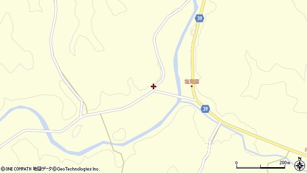 大分県佐伯市宇目大字塩見園1489周辺の地図