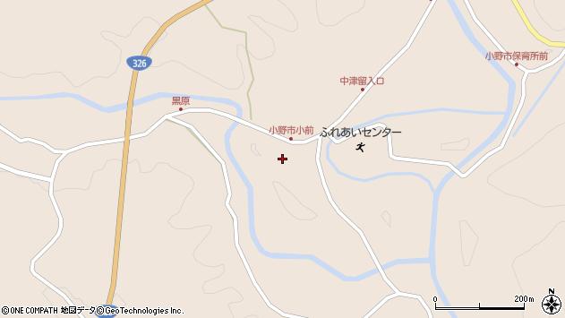 大分県佐伯市宇目大字小野市3779周辺の地図