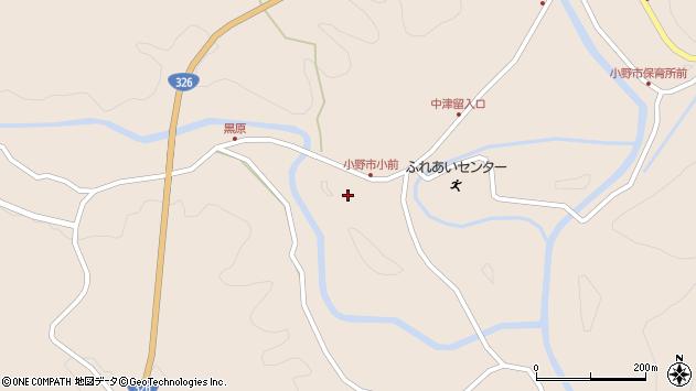 大分県佐伯市宇目大字小野市3883周辺の地図
