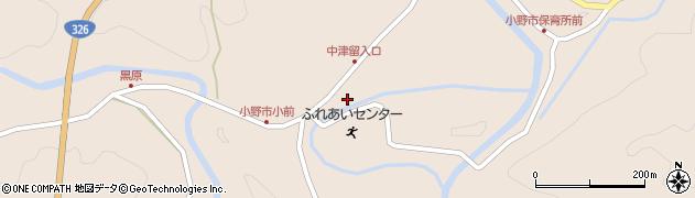 大分県佐伯市宇目大字小野市3545周辺の地図
