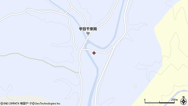大分県佐伯市宇目大字千束2738周辺の地図