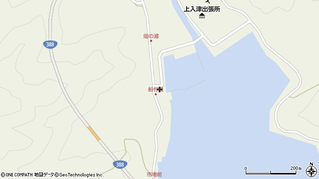 大分県佐伯市蒲江大字畑野浦378周辺の地図