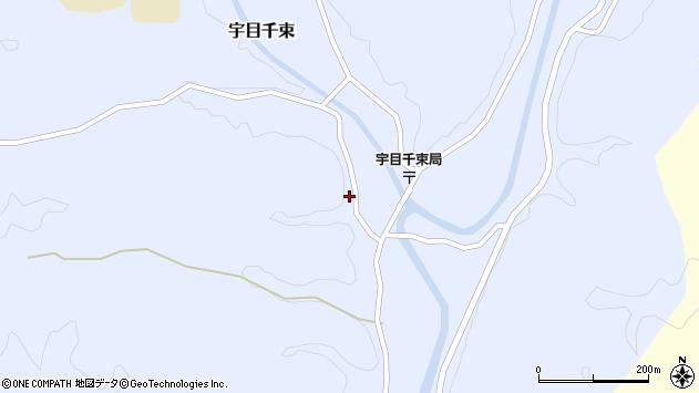 大分県佐伯市宇目大字千束2576周辺の地図