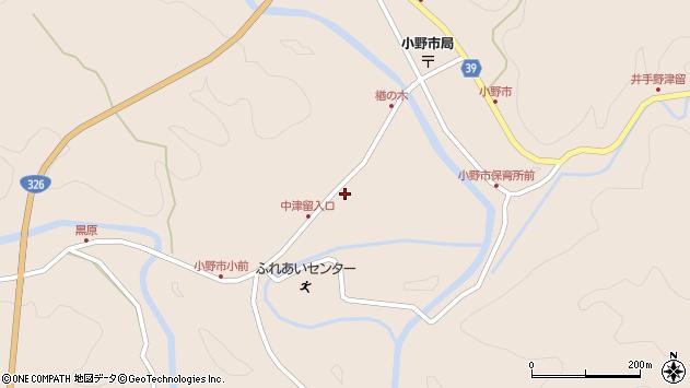 大分県佐伯市宇目大字小野市3409周辺の地図
