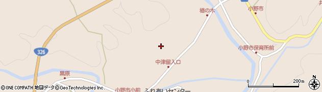 大分県佐伯市宇目大字小野市3734周辺の地図