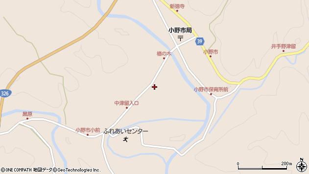 大分県佐伯市宇目大字小野市3428周辺の地図