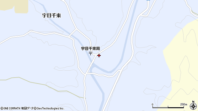 大分県佐伯市宇目大字千束2156周辺の地図