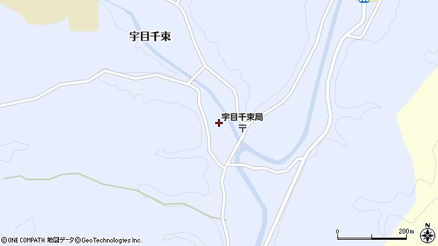 大分県佐伯市宇目大字千束2174周辺の地図