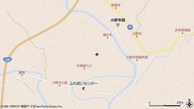 大分県佐伯市宇目大字小野市3427周辺の地図