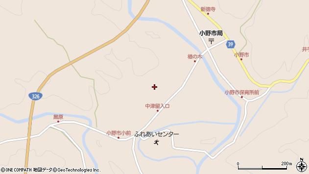 大分県佐伯市宇目大字小野市3503周辺の地図