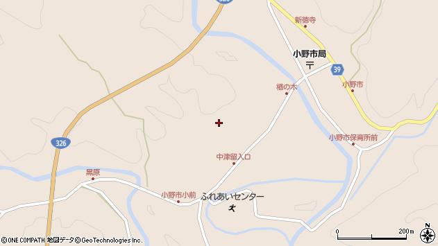 大分県佐伯市宇目大字小野市3500周辺の地図