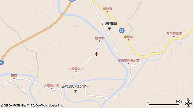 大分県佐伯市宇目大字小野市3474周辺の地図