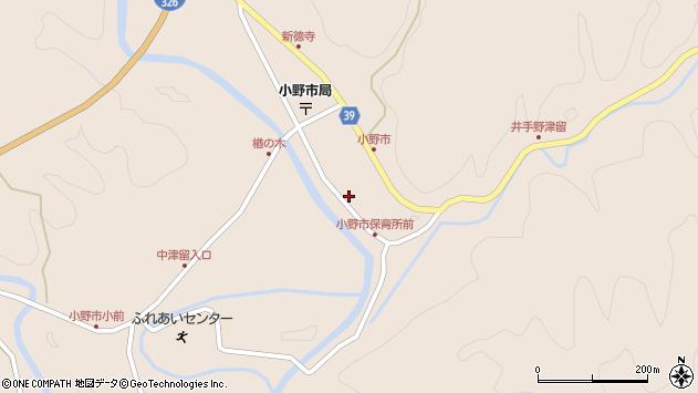 大分県佐伯市宇目大字小野市2941周辺の地図
