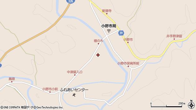 大分県佐伯市宇目大字小野市3475周辺の地図