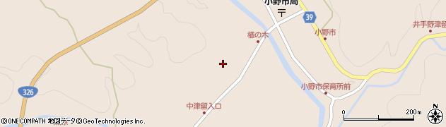 大分県佐伯市宇目大字小野市3510周辺の地図