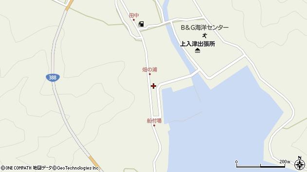 大分県佐伯市蒲江大字畑野浦387周辺の地図