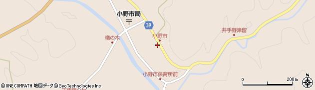 大分県佐伯市宇目大字小野市2928周辺の地図