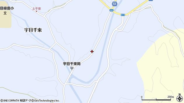 大分県佐伯市宇目大字千束2081周辺の地図