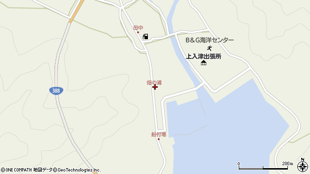 大分県佐伯市蒲江大字畑野浦397周辺の地図