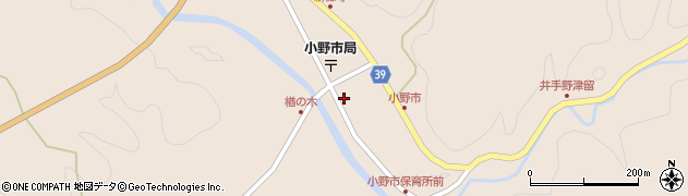大分県佐伯市宇目大字小野市2907周辺の地図