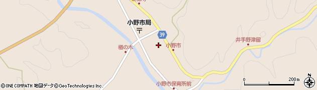 大分県佐伯市宇目大字小野市1周辺の地図