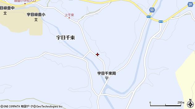 大分県佐伯市宇目大字千束2113周辺の地図