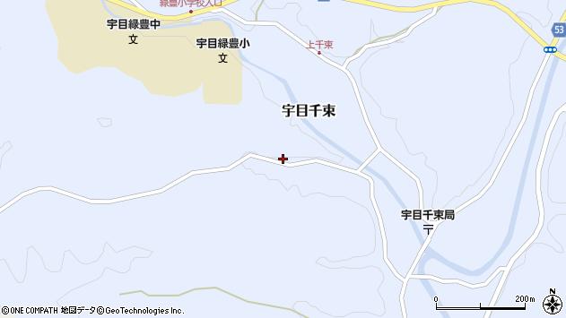 大分県佐伯市宇目大字千束2196周辺の地図