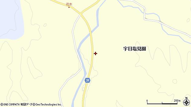 大分県佐伯市宇目大字塩見園1750周辺の地図