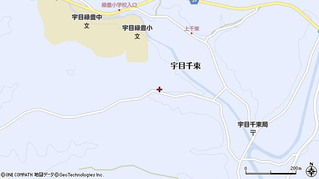 大分県佐伯市宇目大字千束2195周辺の地図