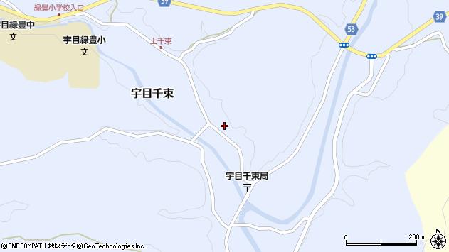 大分県佐伯市宇目大字千束1907周辺の地図