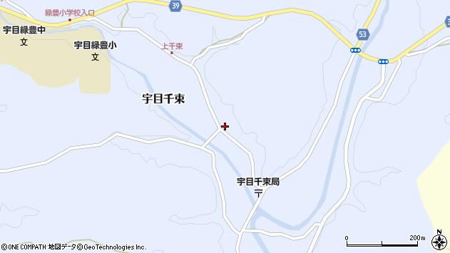 大分県佐伯市宇目大字千束1905周辺の地図