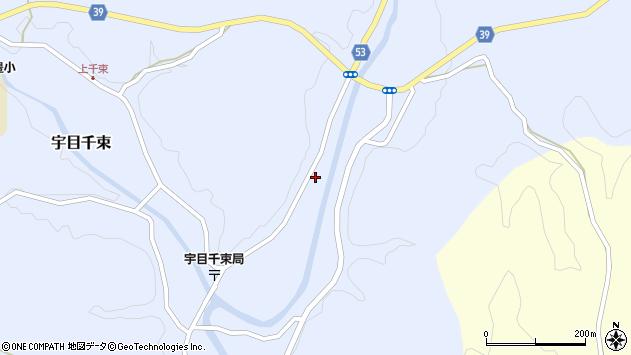 大分県佐伯市宇目大字千束2071周辺の地図