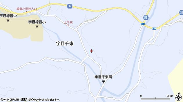 大分県佐伯市宇目大字千束1901周辺の地図