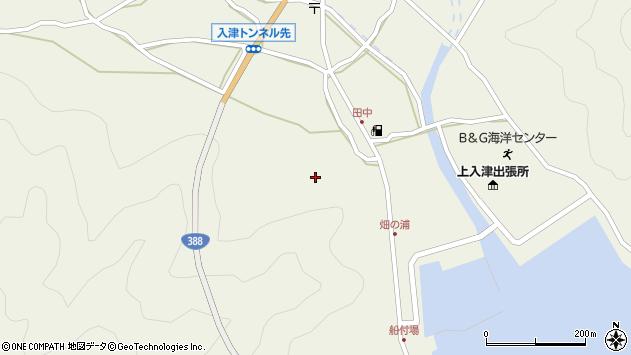 大分県佐伯市蒲江大字畑野浦上入津周辺の地図
