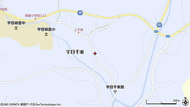 大分県佐伯市宇目大字千束1921周辺の地図