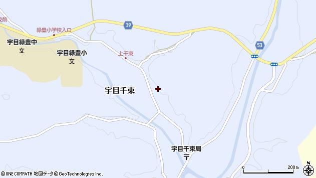 大分県佐伯市宇目大字千束1321周辺の地図