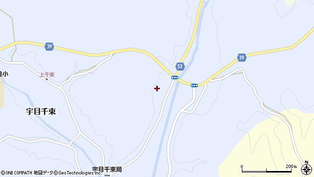 大分県佐伯市宇目大字千束2053周辺の地図
