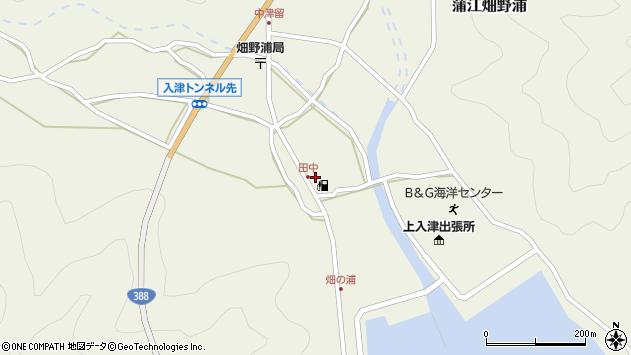 大分県佐伯市蒲江大字畑野浦周辺の地図