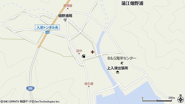 大分県佐伯市蒲江大字畑野浦647周辺の地図