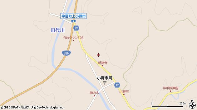 大分県佐伯市宇目大字小野市2846周辺の地図