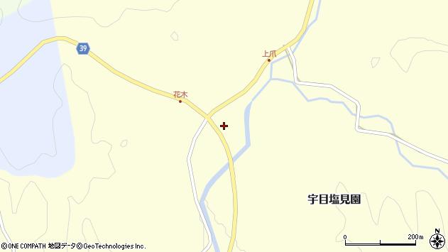 大分県佐伯市宇目大字塩見園花木周辺の地図