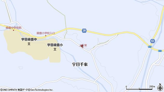 大分県佐伯市宇目大字千束1822周辺の地図