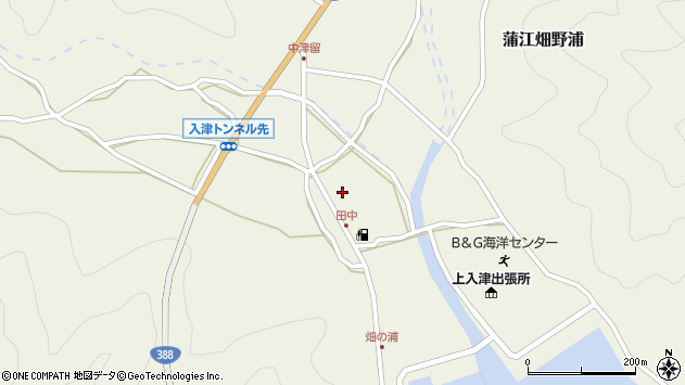 大分県佐伯市蒲江大字畑野浦630周辺の地図
