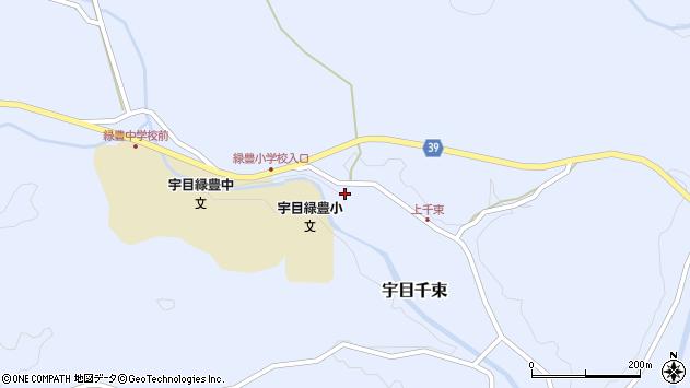 大分県佐伯市宇目大字千束1695周辺の地図