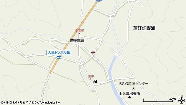 大分県佐伯市蒲江大字畑野浦1633周辺の地図