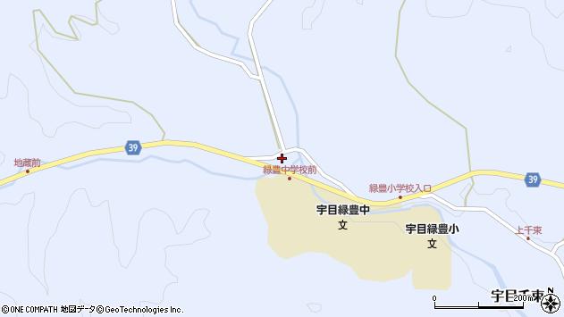 大分県佐伯市宇目大字千束1594周辺の地図