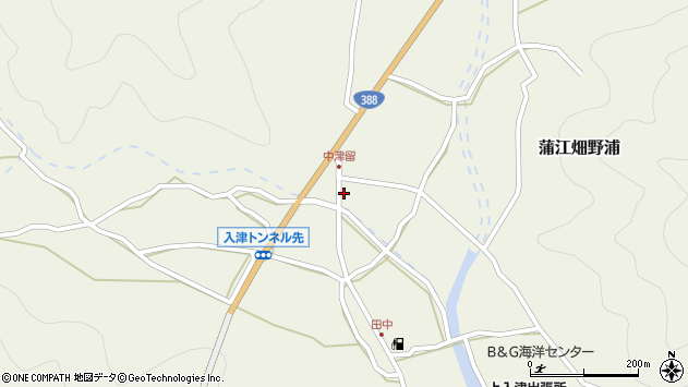 大分県佐伯市蒲江大字畑野浦1616周辺の地図