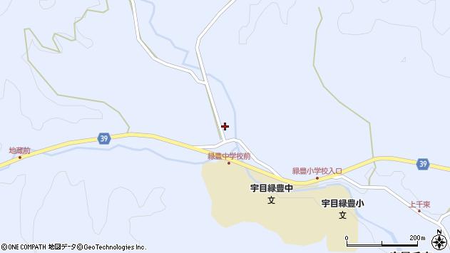 大分県佐伯市宇目大字千束1532周辺の地図
