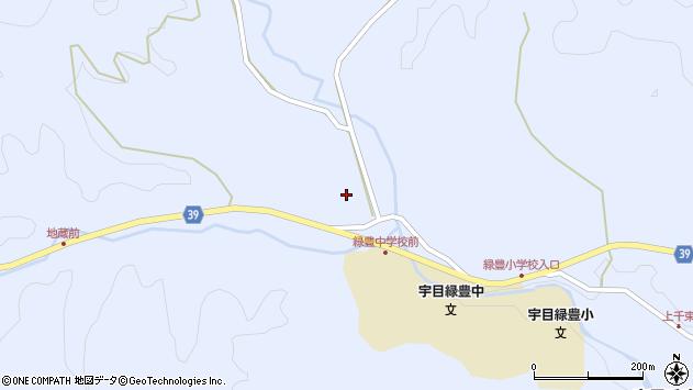 大分県佐伯市宇目大字千束1497周辺の地図